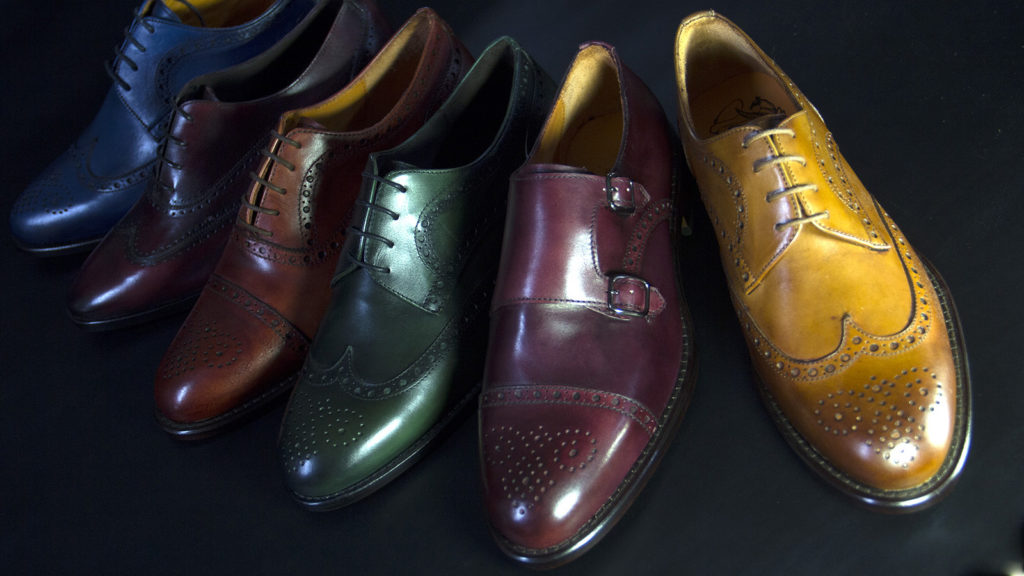 zapatos de piel en colores de aida shoe maker